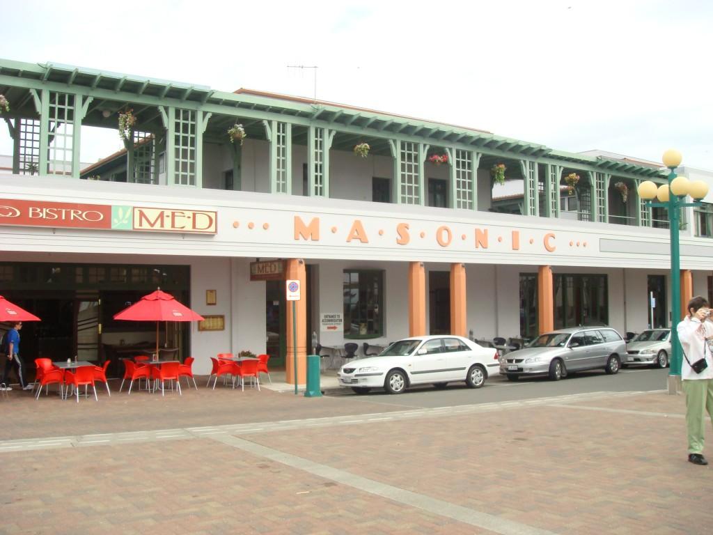 Masonic Hotel, Napier NZ.  2009 it follows the classic 'art deco' look that is Napier.