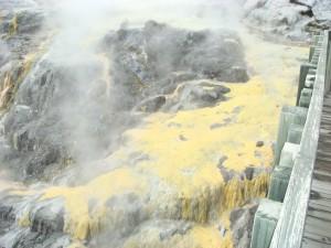 Sulphur cascade, Rotorua, NZ.  2009