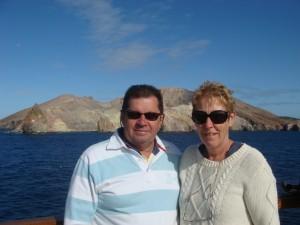 Michael and Pam, White Island NZ.  2009