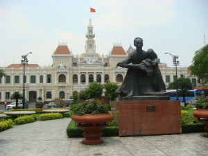 Another statue of Father Ho. Saigon, Vietnam.  2010
