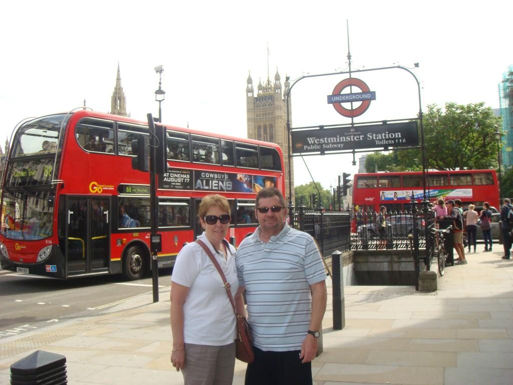 Enjoying the sights of London.  2010