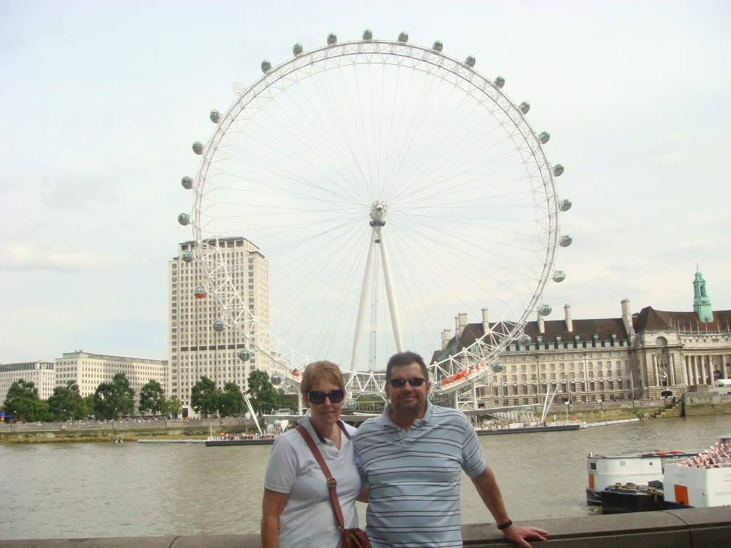 The London Eye and us.  2011