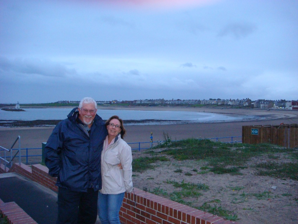Dave and Jenny enjoying the vista, Newbiggin-By-The-Sea, England.  2011