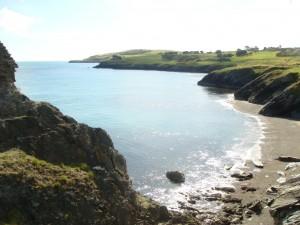 The Irish coastline,  Wicklow Golf Course in the background, Ireland.  2011