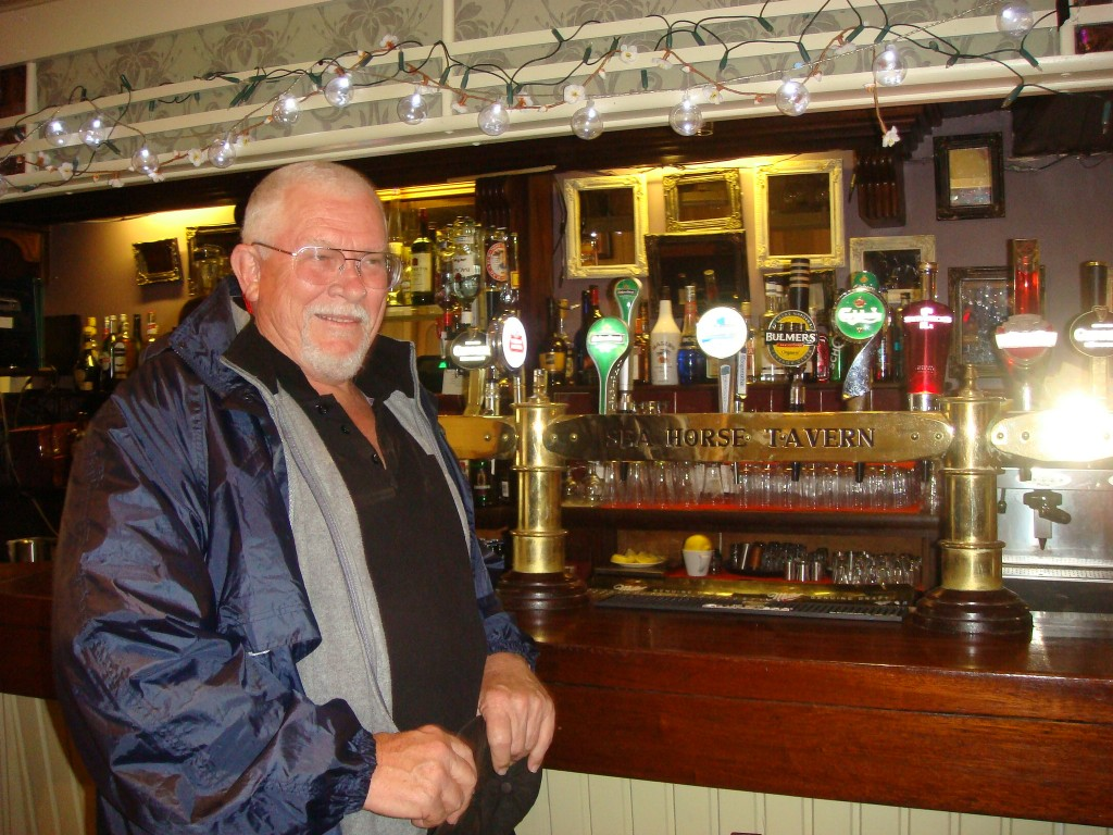 Dave at the Sea Horse Tavern, will it be Fosters or an Irish Whiskey, maybe both ! Ireland.  2011