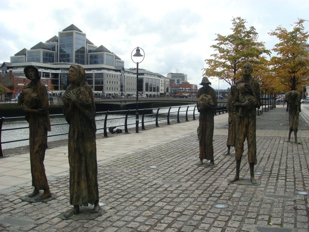 Street Sculptures, on the banks of the Liffey, Dublin.  2011