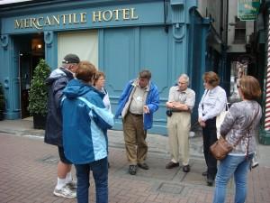 Dublin Walking Tour, boy he could talk, Dublin.  2011