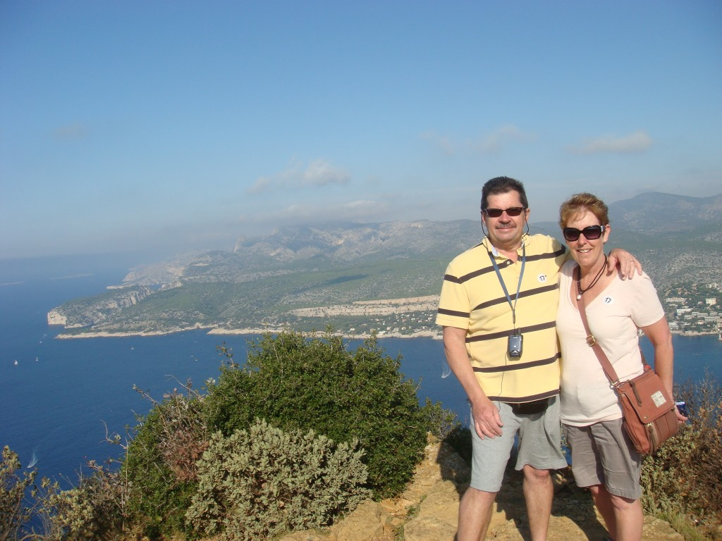 Michael and Pam, walking the cliffs in Provence, France.  2011
