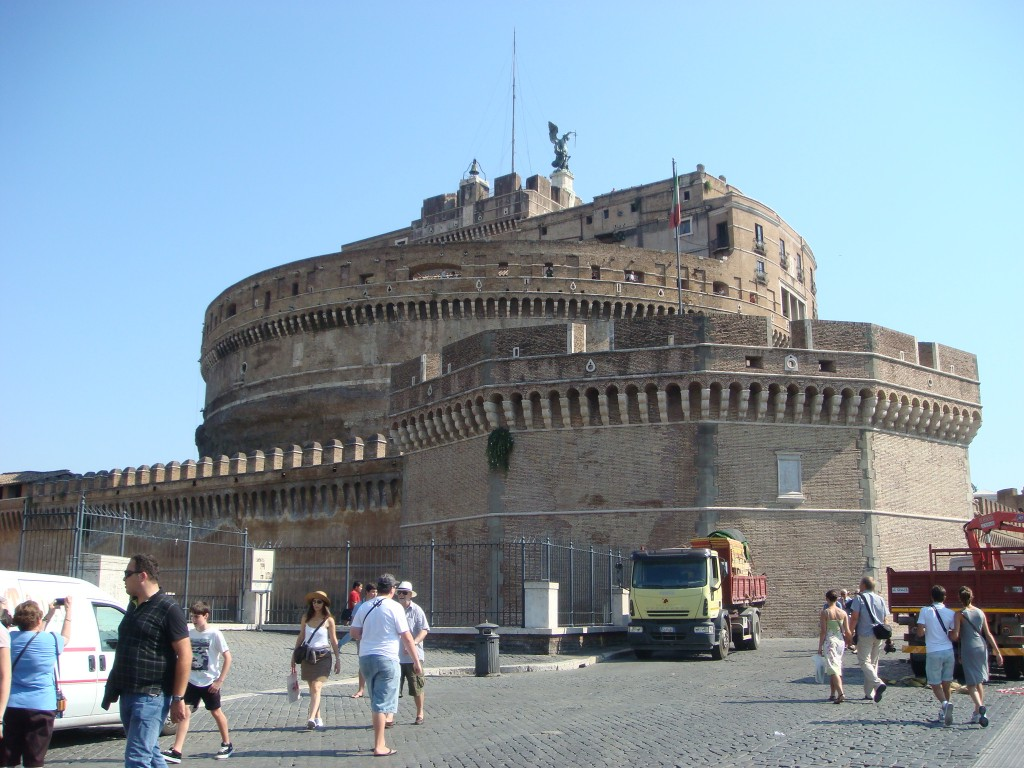 Castel Sant'Angelo, on the banks of the River Tiber. Rome.  2011