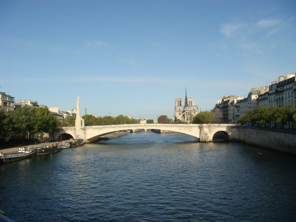 Morning on the Seine, Paris.  2011