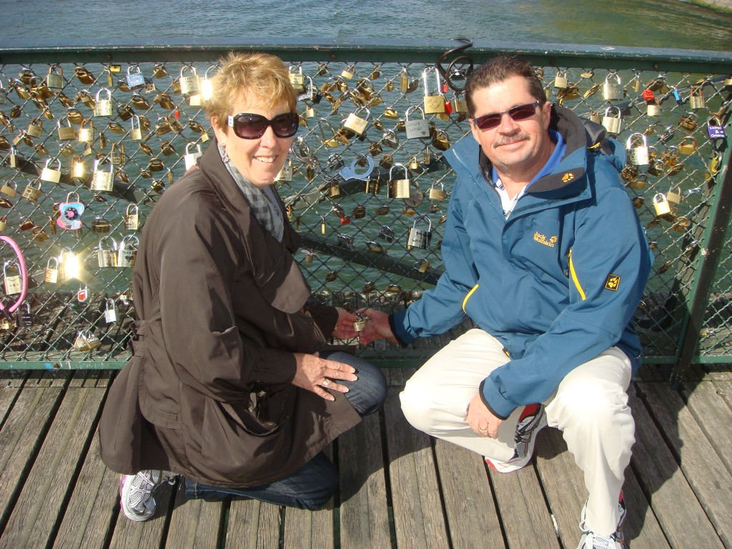 Just happened to have an engraved padlock with me when we discovered Pont de Arts, Paris.  2011