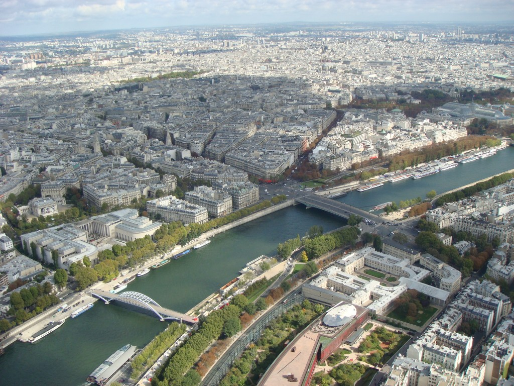 The Quai d'Orsay and the Seine River, Paris.  2011
