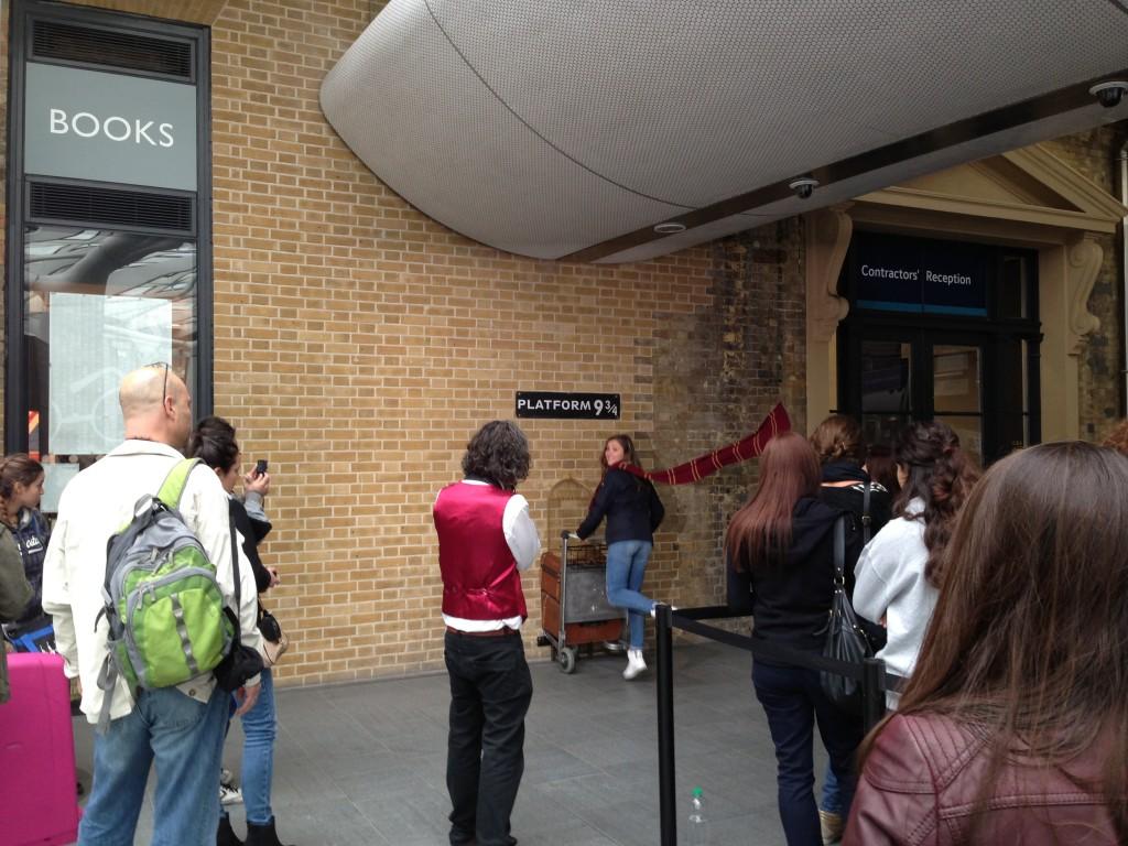 Platform 9 3/4, Kings Cross Station, London, UK.  2013