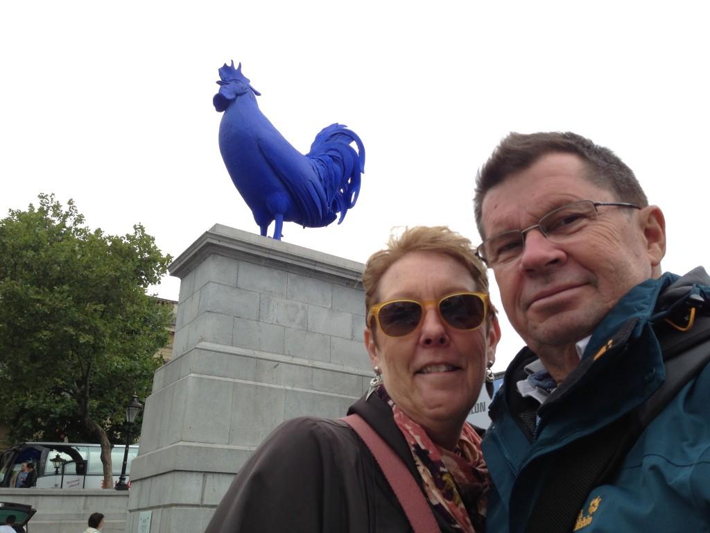 The Blue Cock, Trafalgar Square, London.  2013