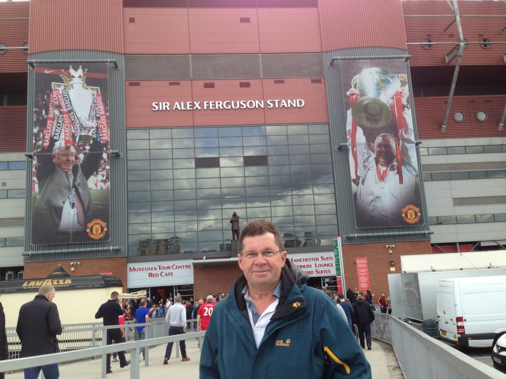 Going to the MU game with David, Manchester. UK.  2013