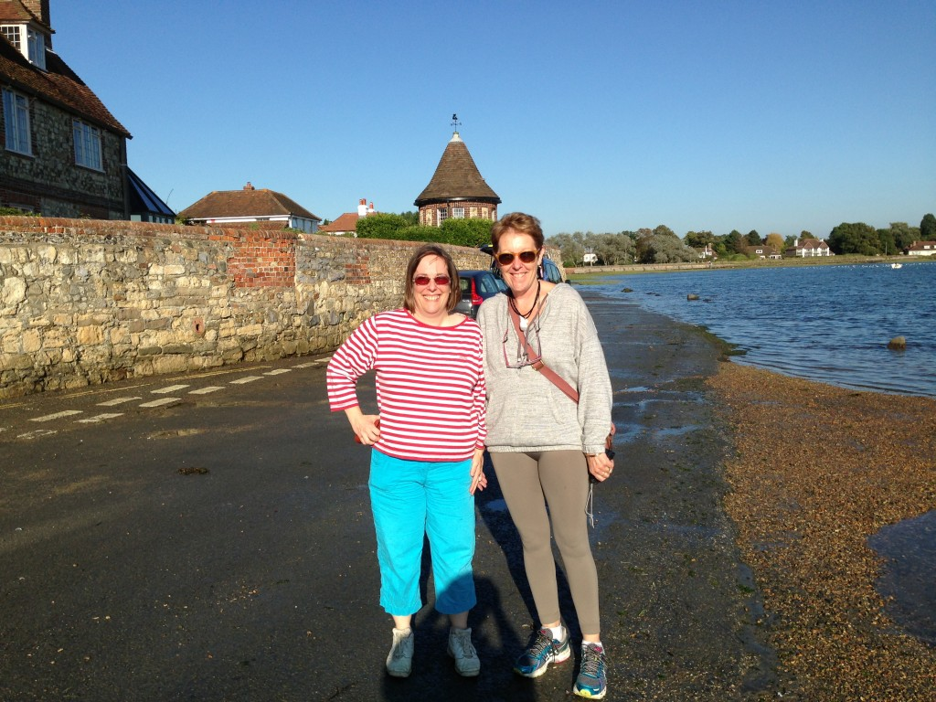 Anne and Pam in Bosham, England.  2013