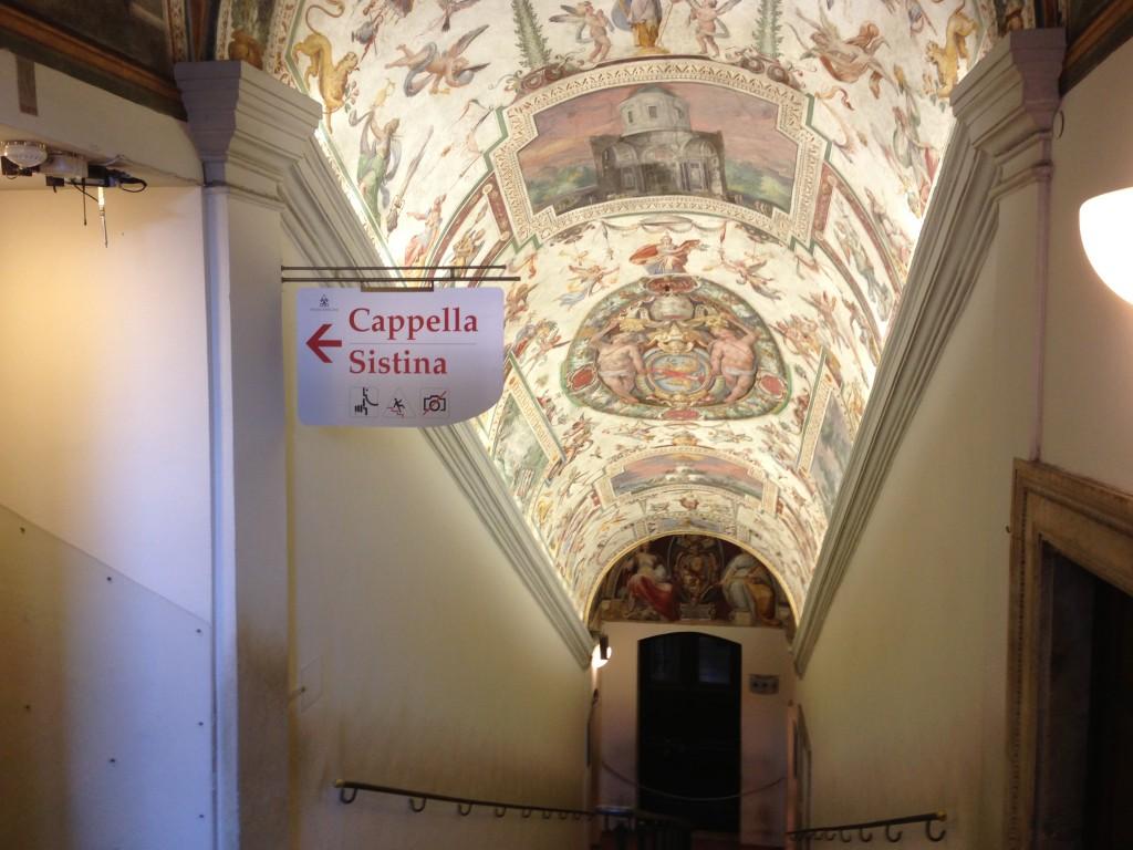 No photos in the Sistine Chapel. Vatican City.  2013