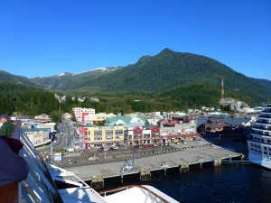 Juneau from the Celebrity Infinity, Alaska.  2012