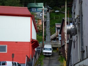 Don't know what would be worse, walking up drunk or perhaps down ? Juneau, Alaska.  2012