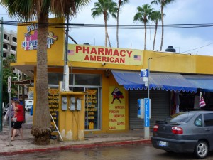 Every second shop is a Pharmacy, Cabo San Lucas, Mexico.  2012
