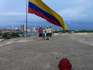Our Gang under the Columbian Flag, Cartagena, Columbia. 2012