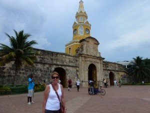 Walls of the old city of Cartagena. 2012