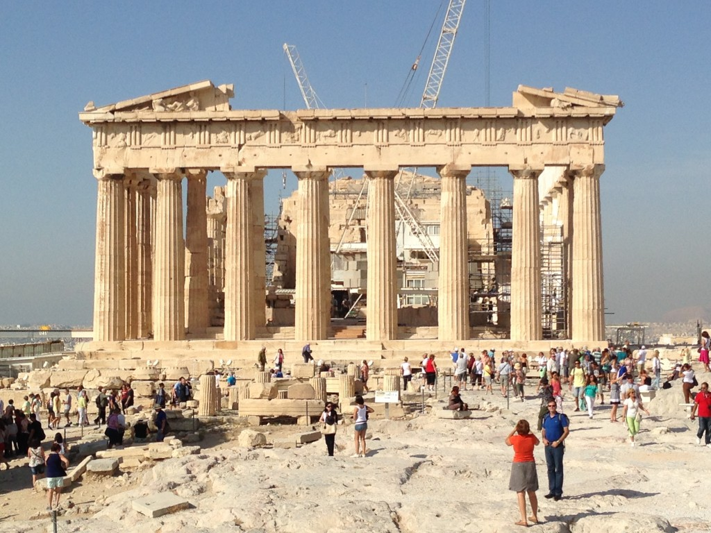 The Acropolis, Athens, glad we were early, it was full of people, Greece.  2013
