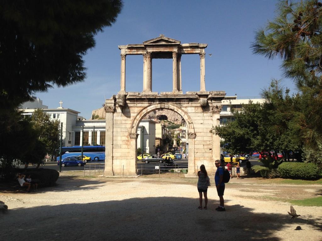 Hadrian sure got around, he has been in Greece as well.  2013