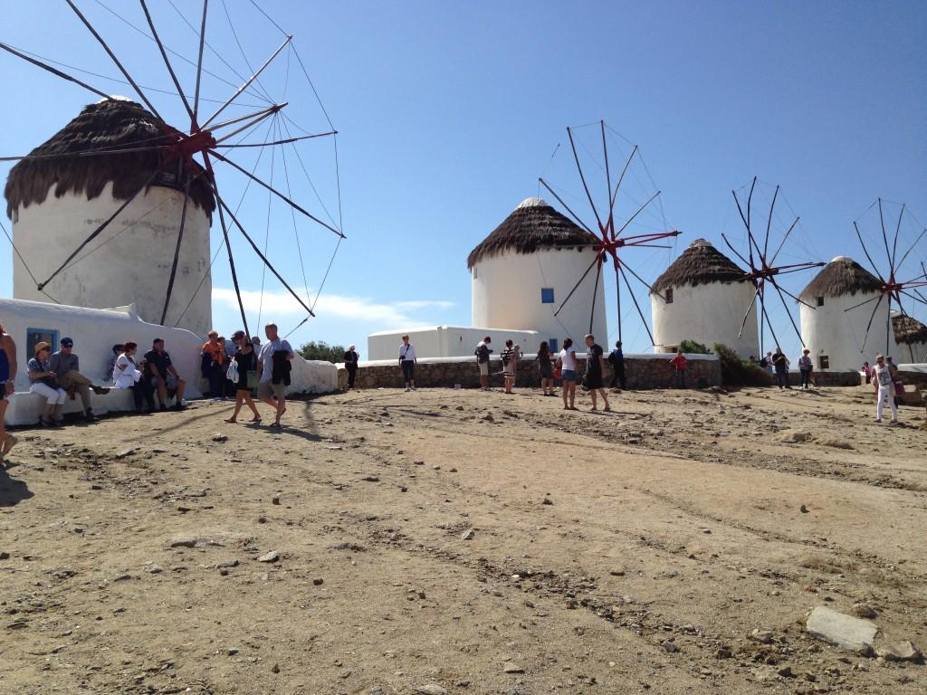The Windmills, Mykonos, The Greek Islands.  2013