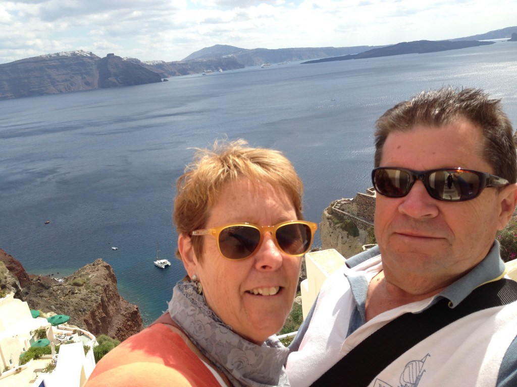 Santorini Selfie ! The Greek Islands.  2013