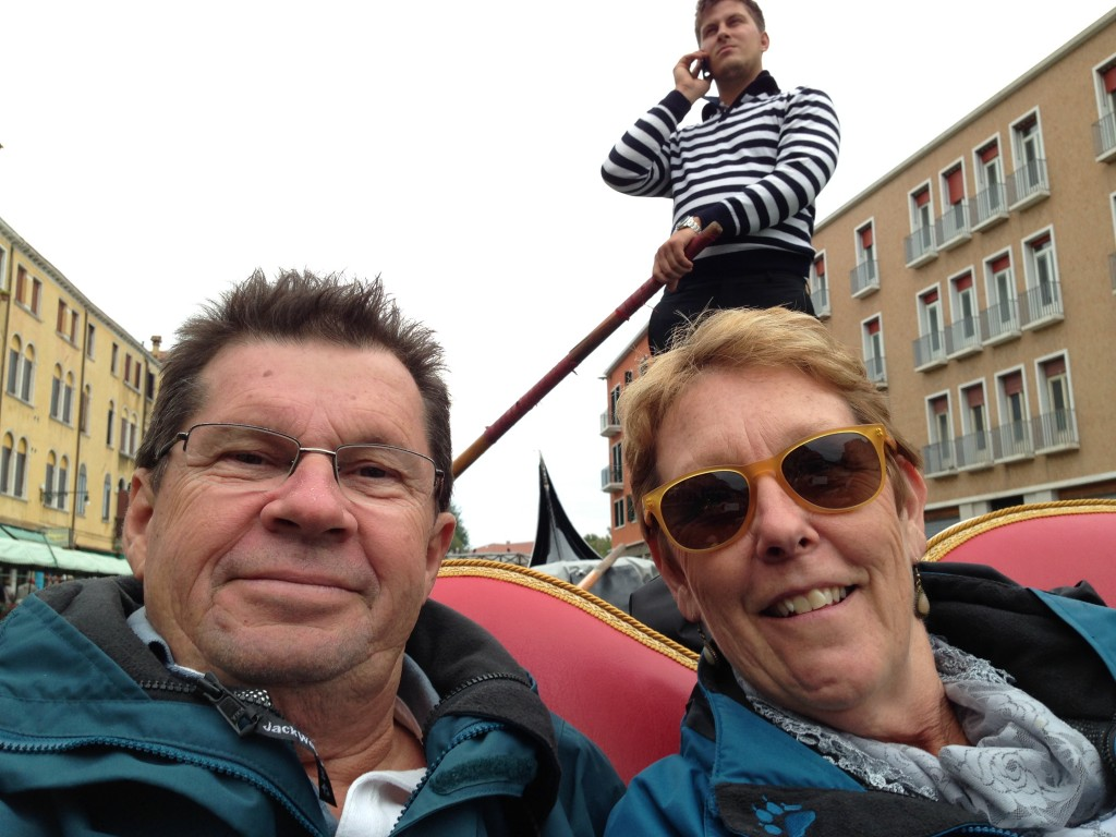 Michael and Pam doing the Gondola thing, the Gondolier obviously the business, Venice.  2013