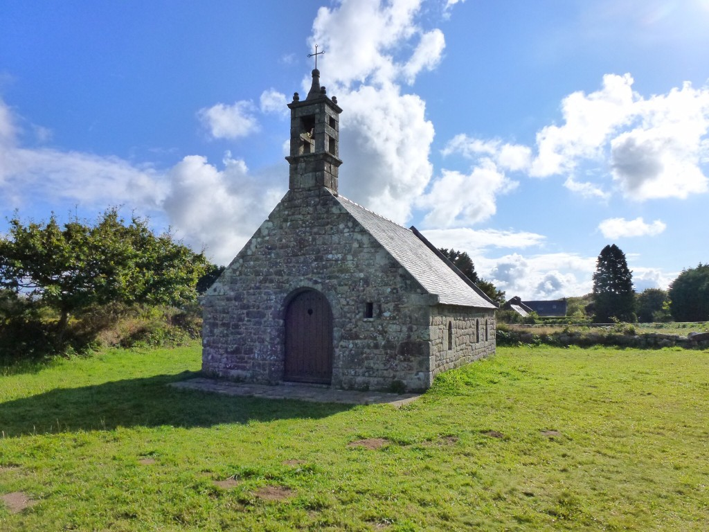 A small but beautiful little church at La Motte.  The hill above Locronan on our morning walk from our campsite.  Brittany. 2014