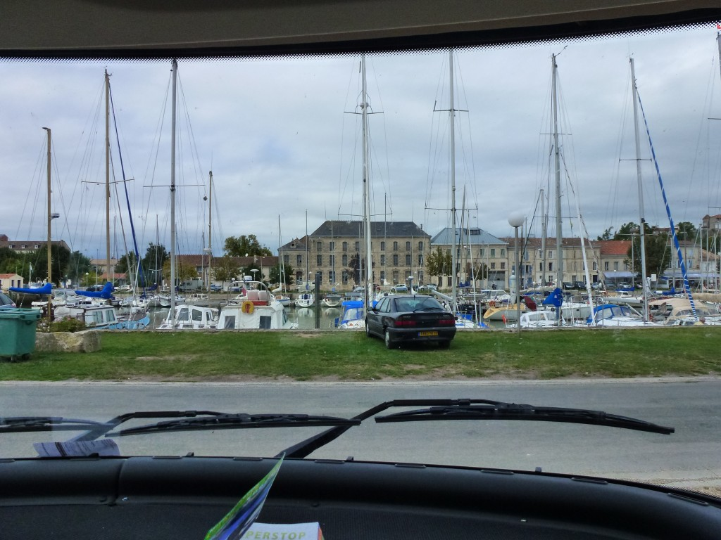 Looks pretty good from the pilots chair in the Hymer, Mortagne-s-Gironde, France.  2014
