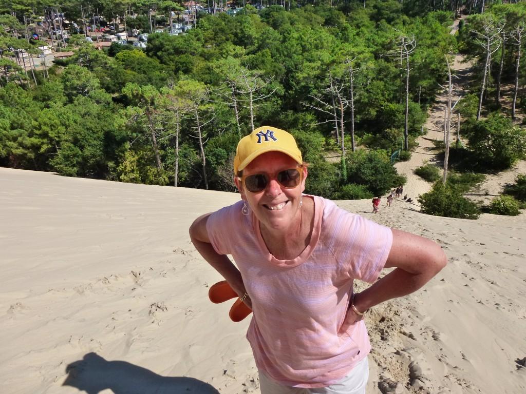 Half way and still smiling, Dune de Pilat, France. 2014