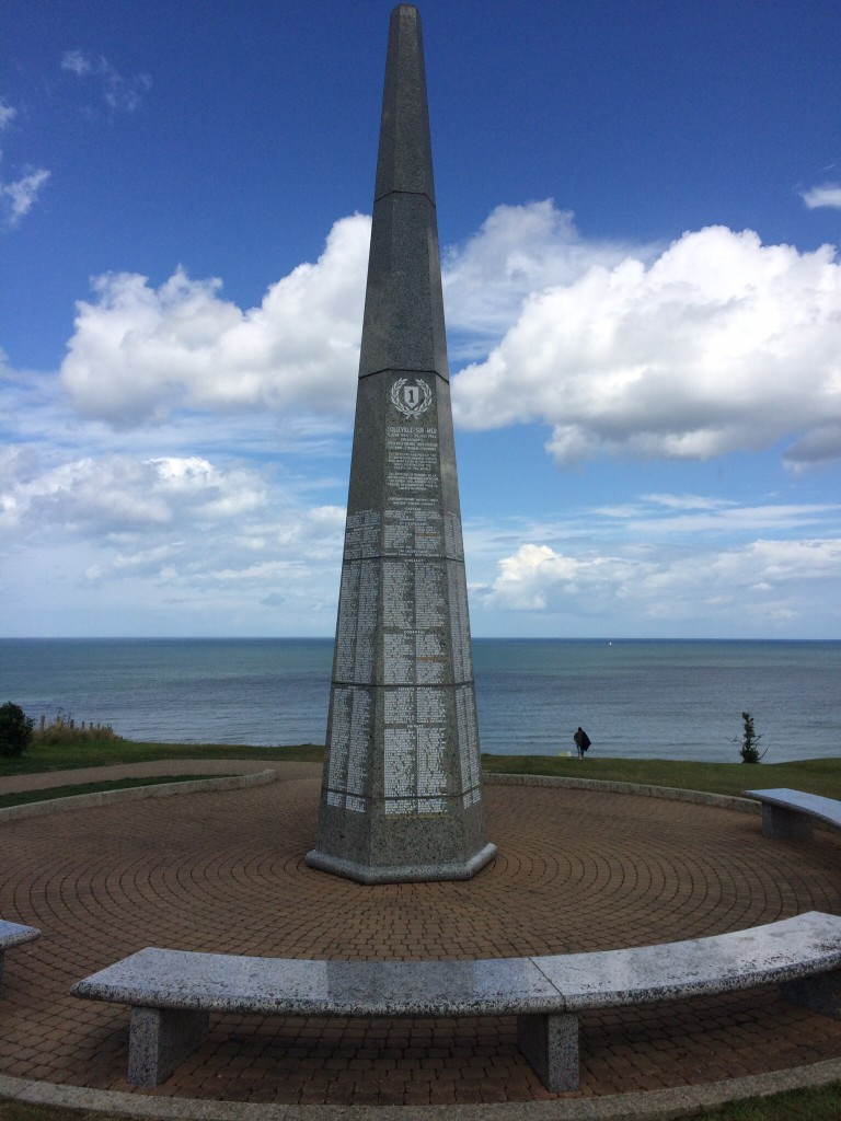 Memorial to the Big Red 1, Omaha Beach. France.  2014