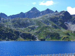 Lake   In the foreground, Pic du Midi d'Ossau in the Background at 2481 metres, France. 2014