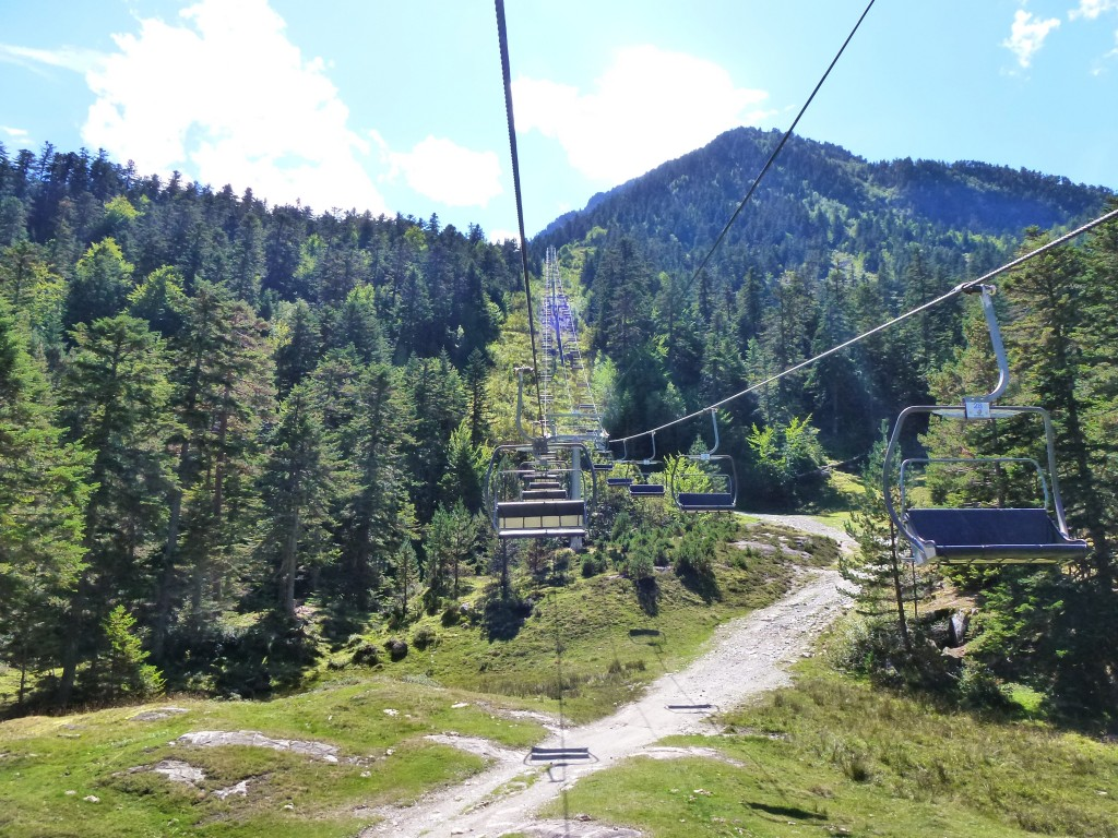 Chairlift,  France.  2014