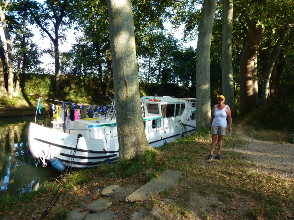 Overnight stop on the canal, France.  2014