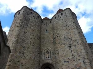 The main gate, Carcassone, France.  2014