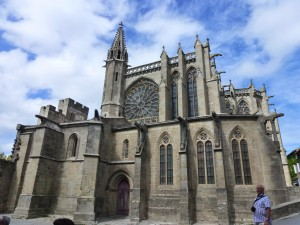 The Old Cathedral, Carcassonne, France.  2014