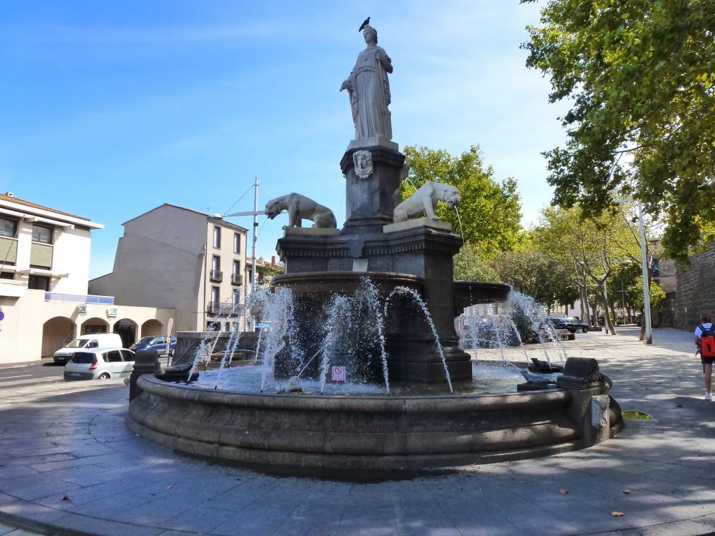Fountain in the Square, Adge, France.  2014