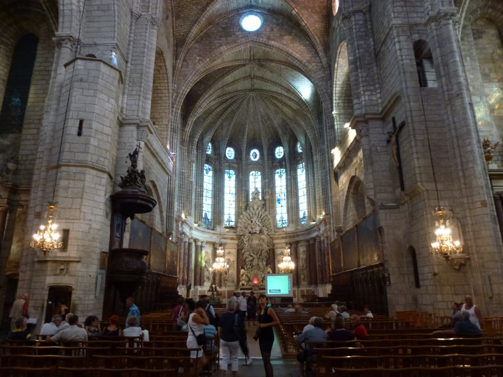 The beautiful interior of Saint Nazierre, Beziers, France.  2014