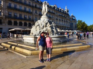 Pam and Jenny, The Square, Montpellier, France.  2014