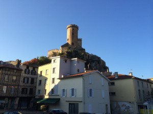 First view of the Citadel, Foix, France.  2014