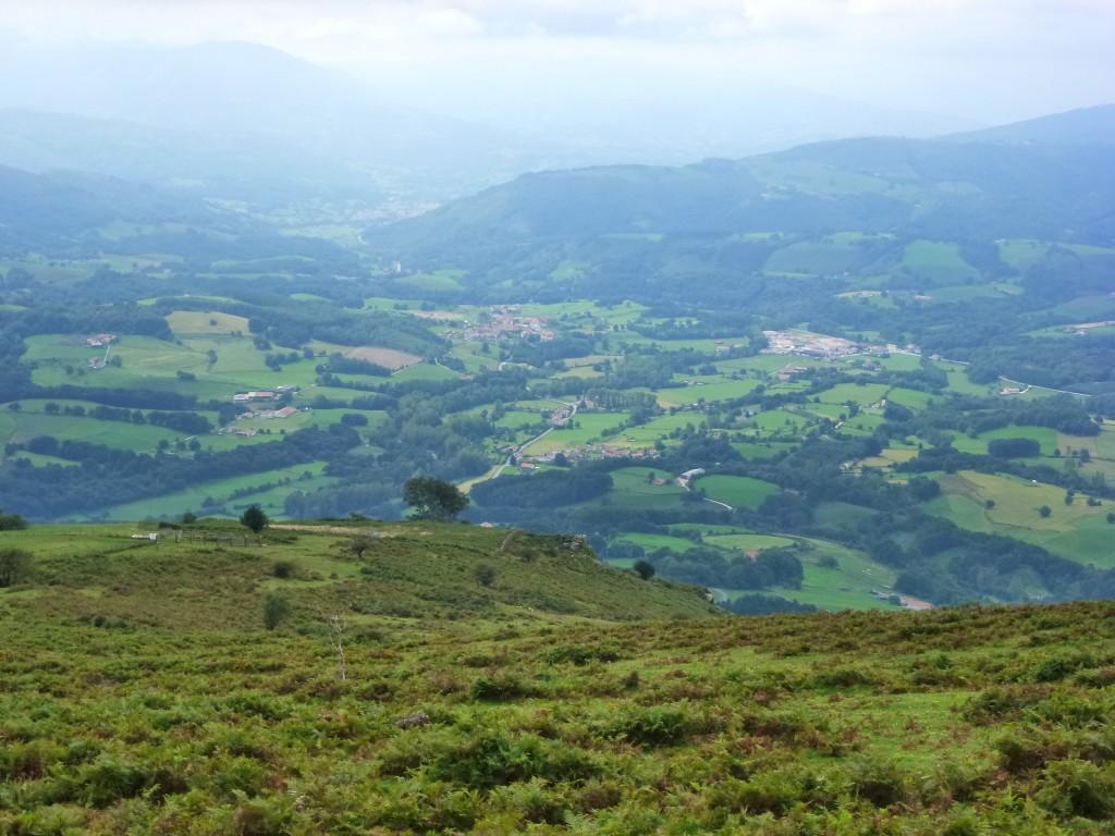 Views of the valley below. Spain.  2014