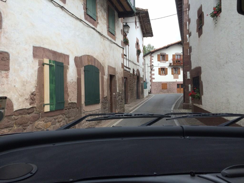 Main road through Bozate, Spain.  2014