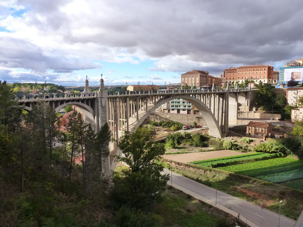 The magnificent old bridge in Teruel, now a walking bridge only. Spain.  2014