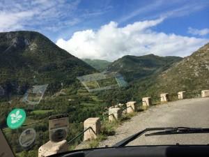 Road to Grotte de Niaux, interesting !  France. 2014
