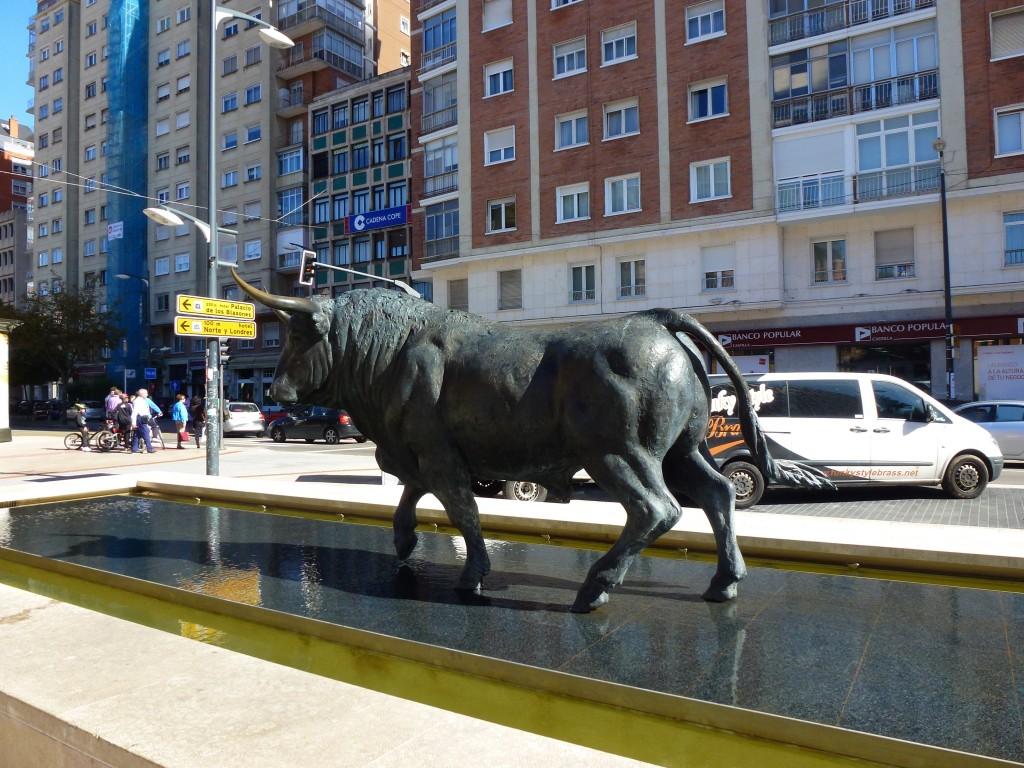 Another Bronze Bull, Burgos, Spain.  2014