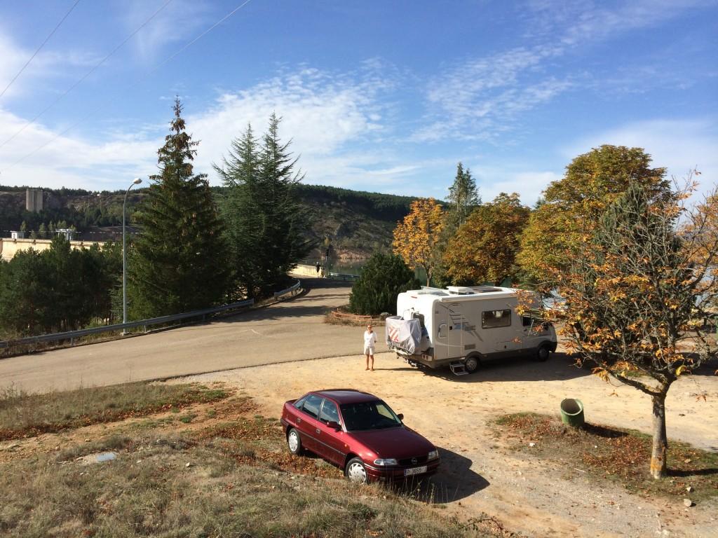 Camper car coffee in Aguilar, Spain.  2014